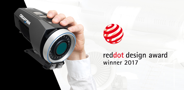Creaform Max SHOT Red Dot Award